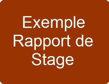 Exemple de rapport de stage E6