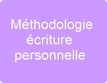 Méthodologie écriture personnelle
