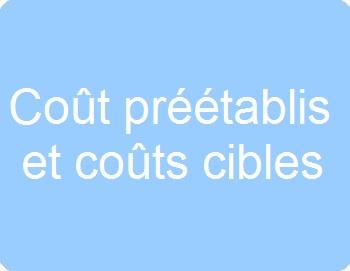 Coûts préétablis et coûts cibles