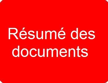 Résumé des documents