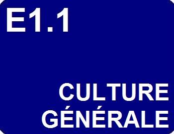E1.1 : Culture générale