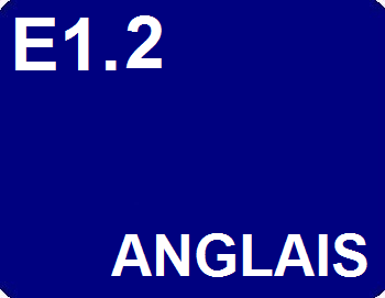 E1.2 : Anglais