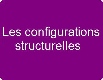 Les configurations structurelles