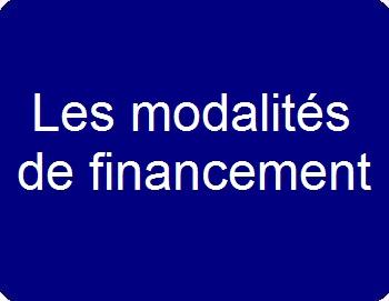 Les modalités de financement