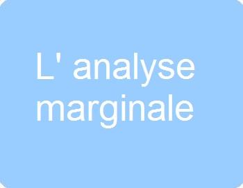 L'analyse marginale