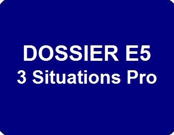 Dossier E5 : 3 Situations professionnelles