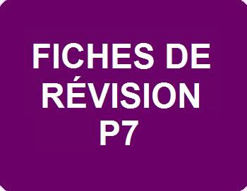 Fiches de révision P7